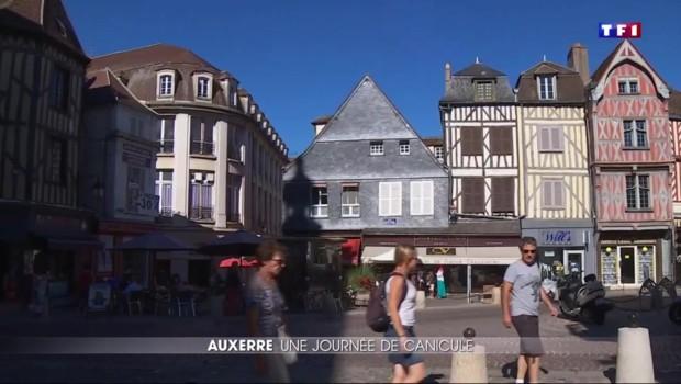 Canicule : Auxerre prend des allures de ville fantôme