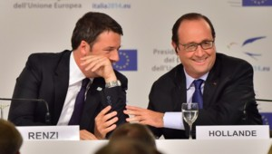 Matteo Renzi et François Hollande