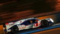 La Toyota TS040 #7 de Kazuki Nakajima, Alexander Wurz et Stéphane Sarrazin aux Qualifications des 24h du Mans le 12 juin 2014