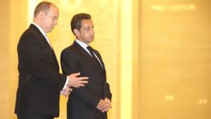 Prince albert II de Monaco Nicolas Sarkozya