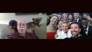Le selfie des Oscars versus le selfie d'un inconnu américain