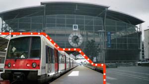 A l'heure de pointe, les trains enregistrent un taux de chargde de 150 à 200%.