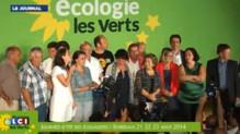 Clôture de l'université d'été de EELV à Bordeaux, le 23 août 2014.