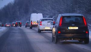 Neige dans l'Ouest et difficultés sur les routes (06/01/2010)