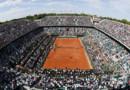 Roland Garros, le 1er juin, lors du match entre Gasquet et Djokovic.