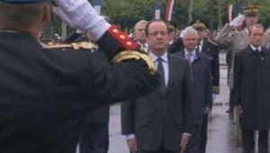 François Hollande lors des cérémonies du 8 mai 2013.