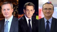 Bruno Le Maire, Nicolas Sarkozy et Hervé Mariton