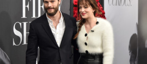 Jamie Dornan et Dakota Johnson à l'avant-première de Cinquante Nuances de Grey à New York
