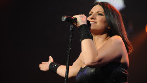 La chanteuse italienne Laura Pausini, ici en concert à Genève, le 10 mai 2009.