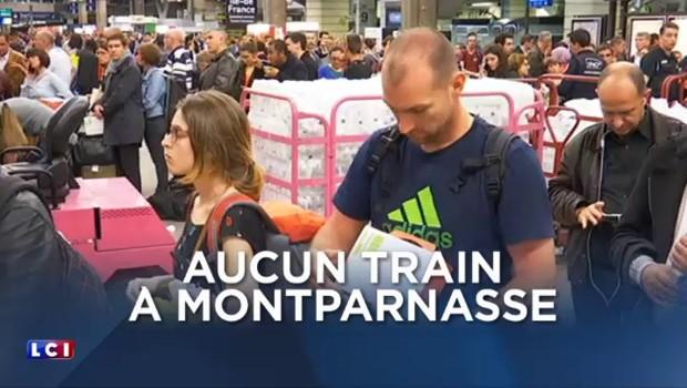 Aucun train à Montparnasse