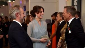 Kate Middleton et Daniel Craig lors de l'avant première de Spectre à Londres (octobre 2015)