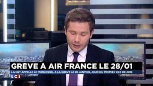Air France: la CGT appelle à la grève le 28 janvier