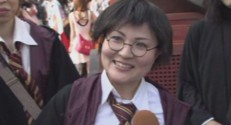 Une fan d'Harry Potter à Osaka