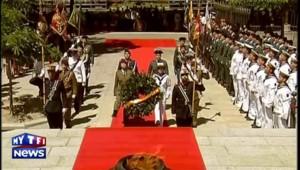 Juan Carlos d'Espagne préside sa dernière cérémonie militaire