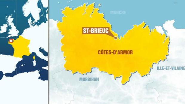 La carte de Saint-Brieuc