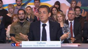 Le tacle de Sarkozy à Aubry sur la culture