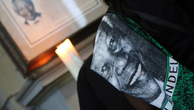 Hommage à Nelson Mandela à Durban au lendemain de sa mort, 6/12/13