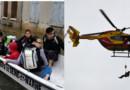 Les habitants du centre-ville de Nemours ont été évacués par hélicoptère et par barque