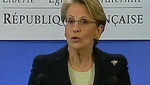 MAM Alliot-Marie conférence de presse Clemenceau