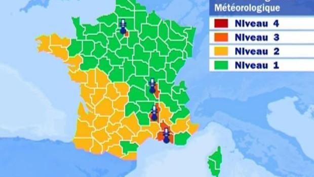 TF1/LCI : Canicule : carte de vigilance météo