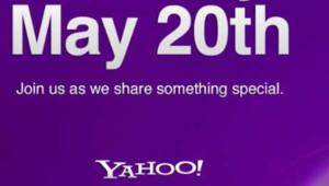 Détail de l'invitation de Yahoo! pour le 20 mai 2012