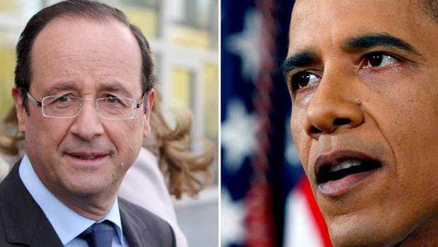 François Hollande - Barack Obama (montage)