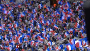 supporters football équipe france bleus fans gradins stade