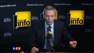Invité sur France Info vendredi matin, le ministre de l'agriculture est revenu sur l'interview de Nicolas Sarkozy, en saluant