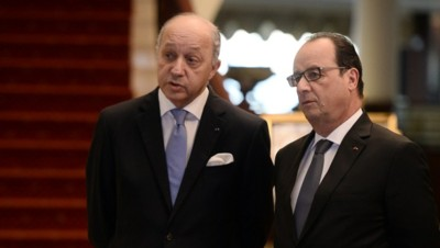 Laurent Fabius et François Hollande