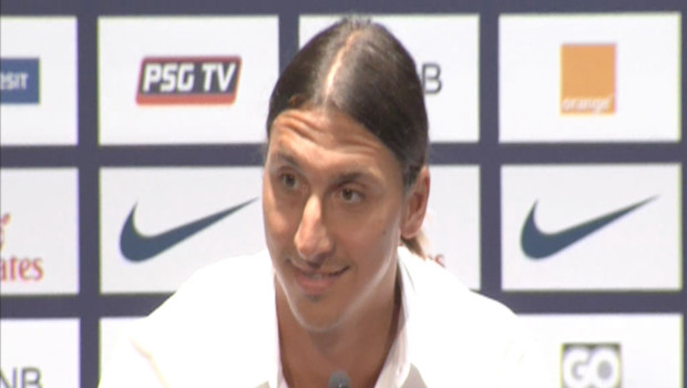 Zlatan Ibrahimovic, le 18 juillet 2012.