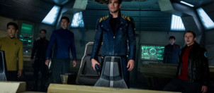 Chris Pine, John Cho, Karl Urban, Simon Pegg et Zachary Quinto dans Star Trek - Sans Limites de Justin Lin