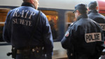 Des agents de la sécurité de la RATP et de la police sur le quai de la station Denfert-Rochereau.Archive.