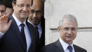 François Hollande et Claude Bartolone au Pré-St-Gervais en mars 2012 présidentielle