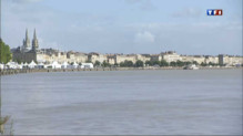 La Garonne  Bordeaux (Gironde).
