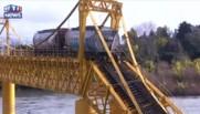 Chili : un train rempli de produits chimiques chute dans une rivière
