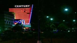 Cinéma de la banlieue de Denvers, où a eu lieu une fusillade, dans la nuit de jeudi à vendredi 20 juillet 2012.
