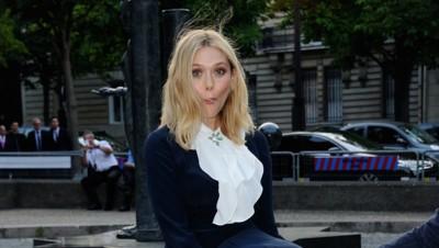 Elizabeth Olsen à Paris le 4 juillet 2015