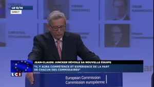"""Jean-Claude Juncker : """"Il y a aura compétence et expérience de la part des commissaires"""""""