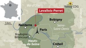 Carte de localisation de Levallois-Perret (Hauts-de-Seine)