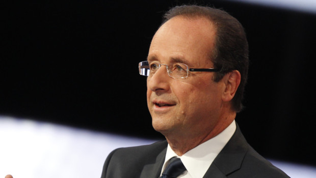 François Hollande sur le plateau de France 2 le 12 avril 2012