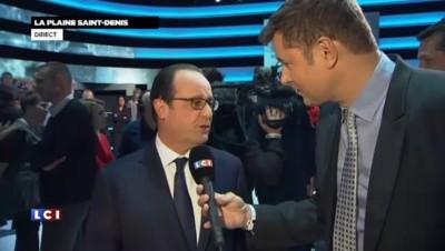 """François Hollande, après le direct : c'était """"un vrai échange avec les Français"""""""