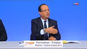 """Le 13 heures du 8 octobre 2013 : Hollande : """"Je veux inverser la courbe du ch�e �a fin de l'ann� - 547.674"""
