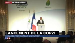 """Hollande sur la COP21 : """"Ce que nous déciderons là c'est pour les 20 ou 30 prochaines années"""""""