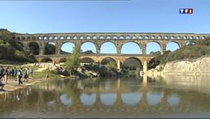 Le 13 heures du 8 mai 2013 : Pont du Gard : la taxe de 10 euros passe mal - 698.16