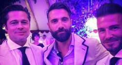Brad Pitt David Beckham au mariage de Guy Ritchie