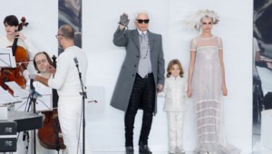 chanel karl Lagerfeld Cara Delevingne défilé haute couture 2014