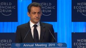 Nicolas Sarkozy à Davos (27/01/2011)
