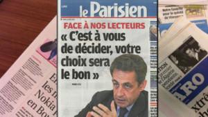 Nicolas Sarkozy dans Le Parisien du 12 avril 2012.