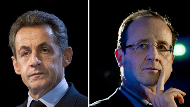 Nicolas Sarkozy et François Hollande/Images d'archives