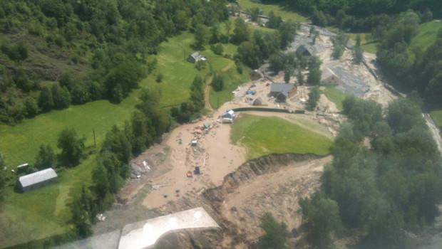 Barèges, Hautes-Pyrénées, dévasté par les crues le 19 juin 2013.